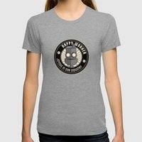 Happy Worker Womens Fitted Tee Tri-Grey SMALL