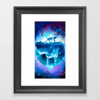 Blue Iceberg with Sea and Sky Framed Art Print