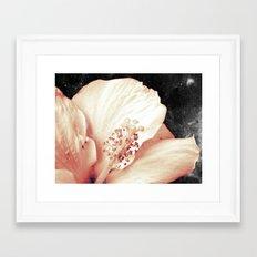 Space Flower Framed Art Print
