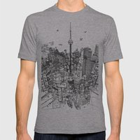 Toronto! (version #2) Mens Fitted Tee Athletic Grey SMALL