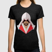 Ezio Auditore Womens Fitted Tee Tri-Black SMALL