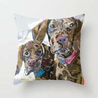 Stella And Angus II Throw Pillow