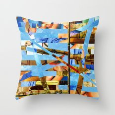 Geoffrey (stripes 18) Throw Pillow