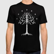 White Tree of Gondor Mens Fitted Tee Black SMALL