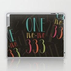 1 2 3 One Two Three Laptop & iPad Skin
