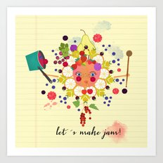 let´s make jam! Art Print