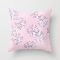 Soft Retro Bloom Throw Pillow