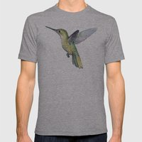 Hummingbird Watercolor I… Mens Fitted Tee Athletic Grey SMALL