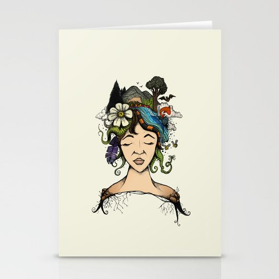 Mother nature Stationery Card