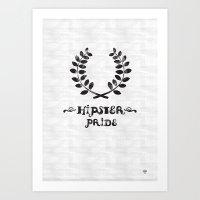 Hipster Pride Art Print