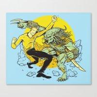 BattleKirk Predactica Canvas Print