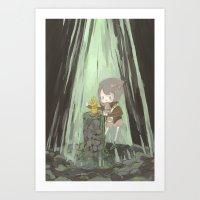 Lost Gauntlet  Art Print
