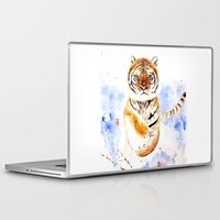 tiger Laptop & iPad Skins featuring Tiger by Anna Shell