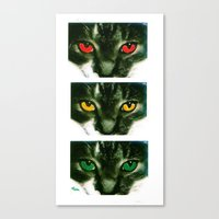 CAT CROSSING Canvas Print