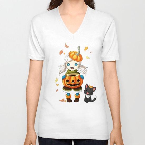 Pumpkin 2 V-neck T-shirt