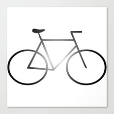Bike - White Canvas Print