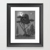Dark Side Of The Forest  Framed Art Print