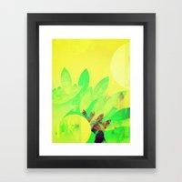 Tropical Sun Drops Heat Framed Art Print