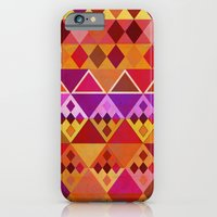 iPhone & iPod Case featuring Fire Diamond Pattern by Vanya