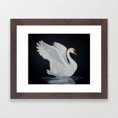 The Flirt painting Framed Art Print