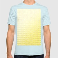 Abstract Buttercup chevron design Mens Fitted Tee Light Blue SMALL