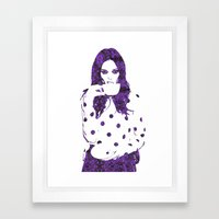 Tea Cup: Coco Rocha Framed Art Print