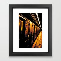 NYC Subway Framed Art Print