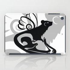Winged Ferret (Black) iPad Case
