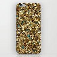 Gold Glitter iPhone & iPod Skin
