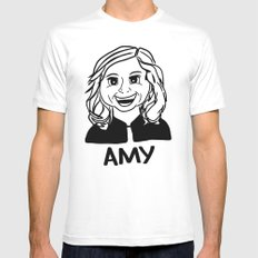 Amy Poehler SMALL Mens Fitted Tee White
