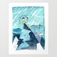 Summit Excitement! Art Print