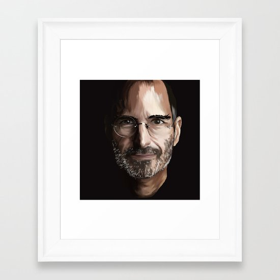 Steve Jobs Framed Art Print