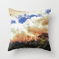 Morning on Fire Throw Pillow