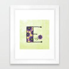 E e Framed Art Print