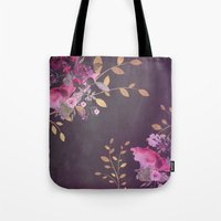 FLOWERS & GOLD  Tote Bag