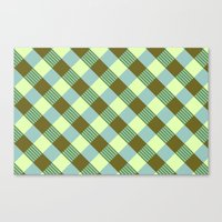 Retro Plaid Canvas Print