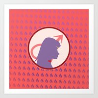 Sailor Mars Art Print