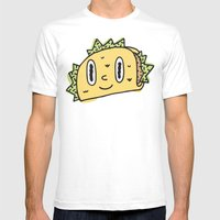 Taco Buddy Mens Fitted Tee White SMALL