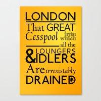 Holmesian London Canvas Print