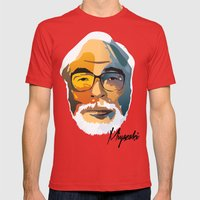 Miyazaki Mens Fitted Tee Red SMALL