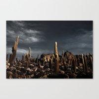 Cactus In Incahuasi Isla… Canvas Print