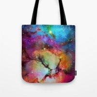 Floral Nebula Tote Bag