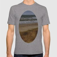 A Day at Hatteras Mens Fitted Tee Athletic Grey SMALL