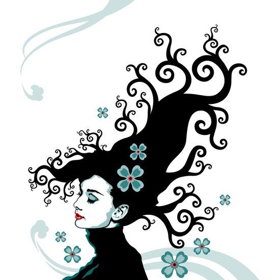 Audrey Hepburn Natural line Art Print