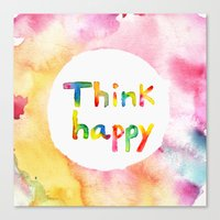 Think Happy Canvas Print