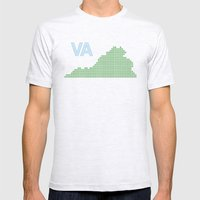 Virginia Mens Fitted Tee Ash Grey SMALL
