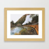 Steam Train Framed Art Print