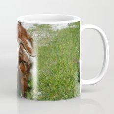 Whimsical Portrait of a Horned Goat Grazing Mug