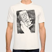 smartphone Mens Fitted Tee Natural SMALL