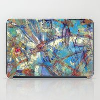 Dragonflies in blue iPad Case